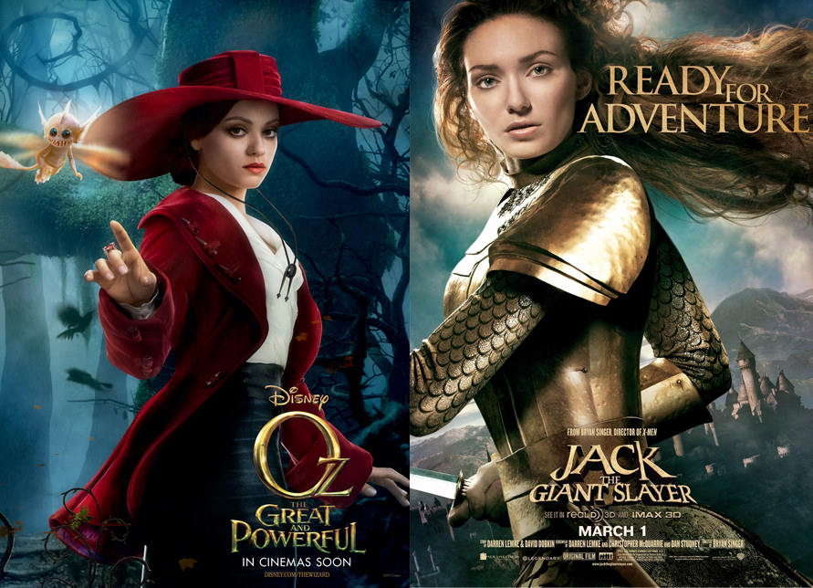 Oz the Great and Powerful and Jack the Giant Slayer: Two Movies That Pass the Bechdel Test — and yet…